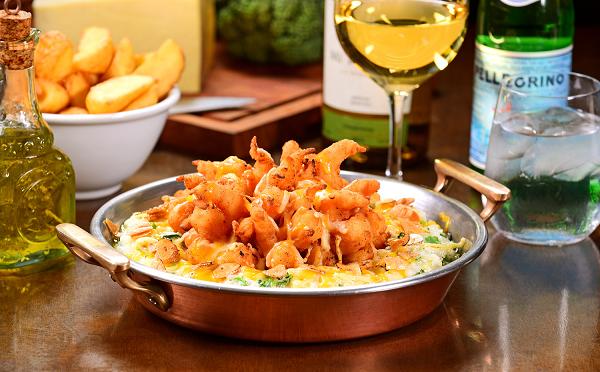 Camarões de Portugal, prato vencedor do Prêmio Bom Gourmet na categoria Peixes e Frutos do Mar em 2017, está no menu Sabores do Victor. (Foto/ Marcelo Krelling)