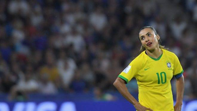 Marta lamenta lance contra a França. Photo by LOIC VENANCE / AFP