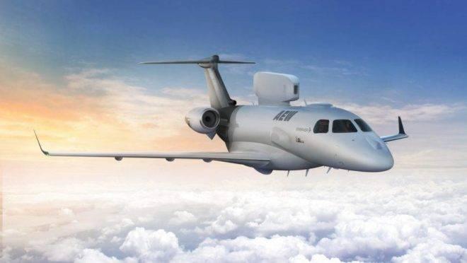 O P600 AEW, jato de alerta antecipado e inteligência, é novidade da Embraer
