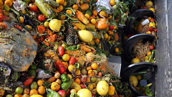 Restos de alimentos são são misturados com lodo de esgoto para produzir o gás que toca os geradores da usina. Fotos: Albari Rosa