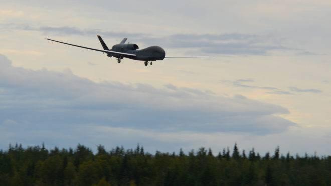 Drone de vigilância não tripulado RQ-4 Global Hawk, modelo que foi abatido pelos iranianos
