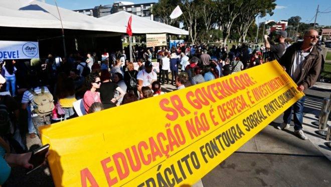 Manifestação de servidores estaduais por reajuste salarial