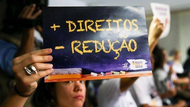Audiência pública para discutir a questão da maioridade penal no Brasil realizada pela Comissão de Constituição, Justiça e Cidadania (CCJ) em 2016