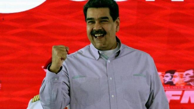"""O ditador da Venezuela, Nicolás Maduro, no Palácio Miraflores, em Caracas, 26 de junho. Maduro alertou que seria """"implacável"""" com a oposição se houvesse tentativa de golpe de Estado, depois que seu regime disse ter impedido uma conspiração para matá-lo"""