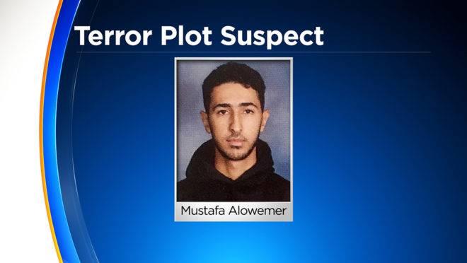 Mustafa Alowemer, suspeito de planejar um atentado terrorista contra uma igreja nos Estados Unidos