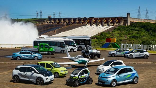 veículos e aviões elétricos Usina de Itaipu
