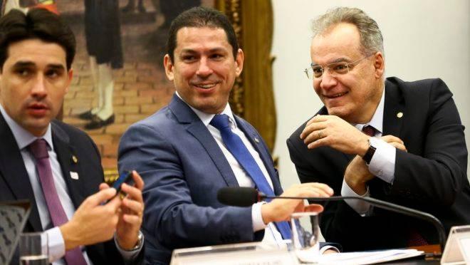 Os deputados Silvio Costa Filho, Marcelo Ramos e Samuel Moreira