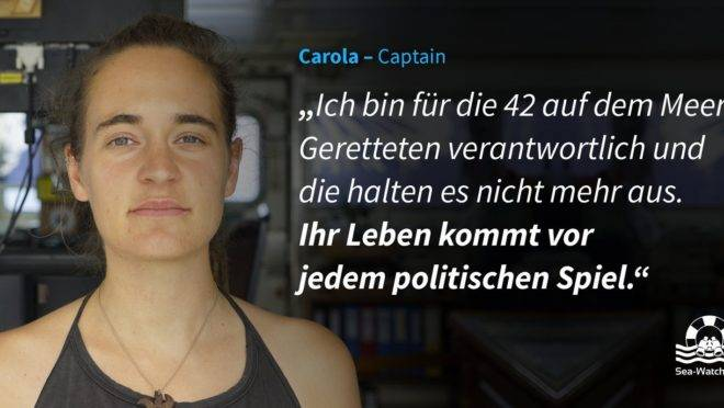 A capitã e os refugiados: um debate sobre princípios