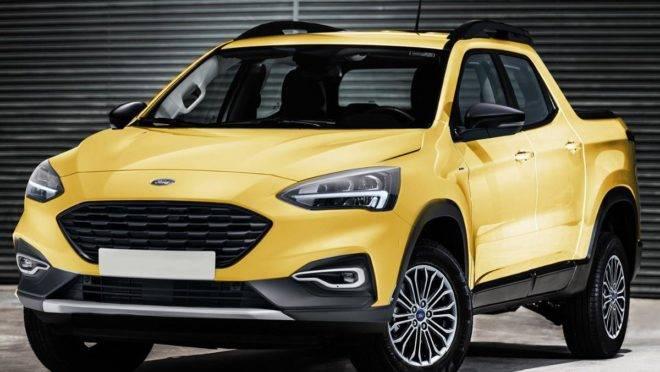 Projeção de como ficaria a picape da Ford. | Kleber Pinho da Silva/ Projeção