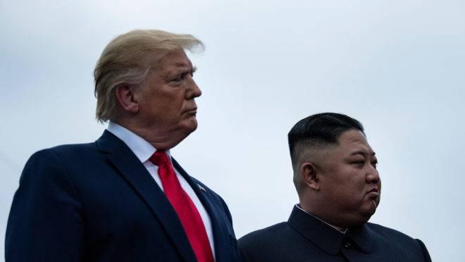 Presidente dos EUA, Donald Trump, e ditador da Coreia do Norte, Kim Jong-un