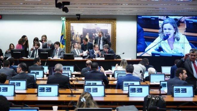 Sessão da comissão especial da reforma da Previdência na Câmara em que a PEC foi votada.