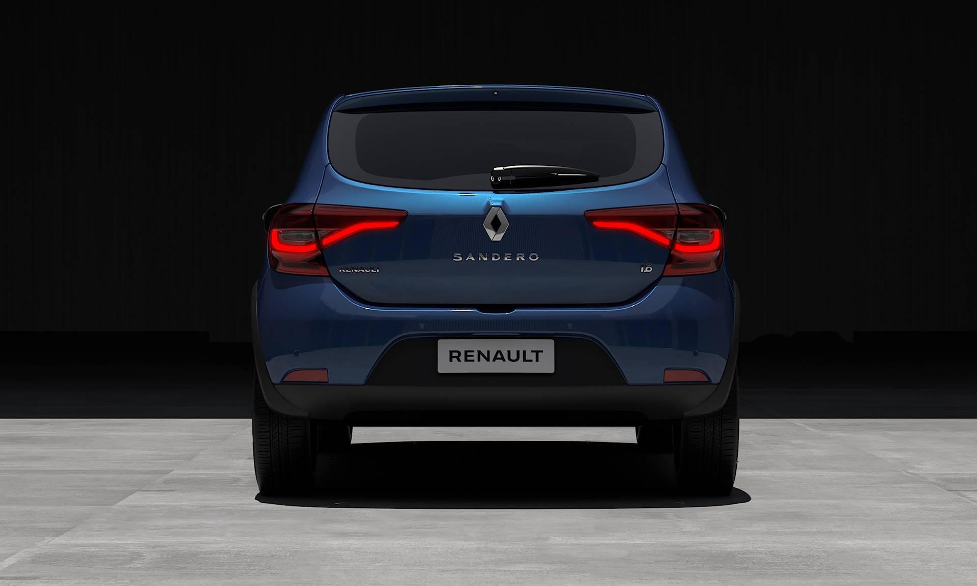 Lanternas com iluminação em led e inspiração na nova assinatura da Renault na Europa. Foto: Renault/ Divulgação