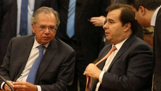 Reforma da Previdência no Plenário da Câmara: Maia e Guedes