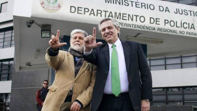 Alberto Fernández visita Lula na cadeia