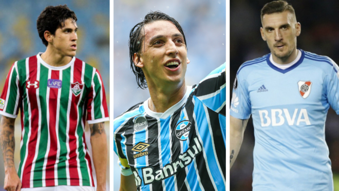 Pedro,do Fluminense, Geromel, do Grêmio e Armani, do River Plate-ARG