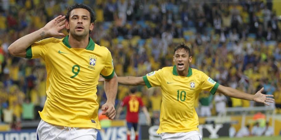 Fred e Neymar marcaram os gols da final contra a Espanha