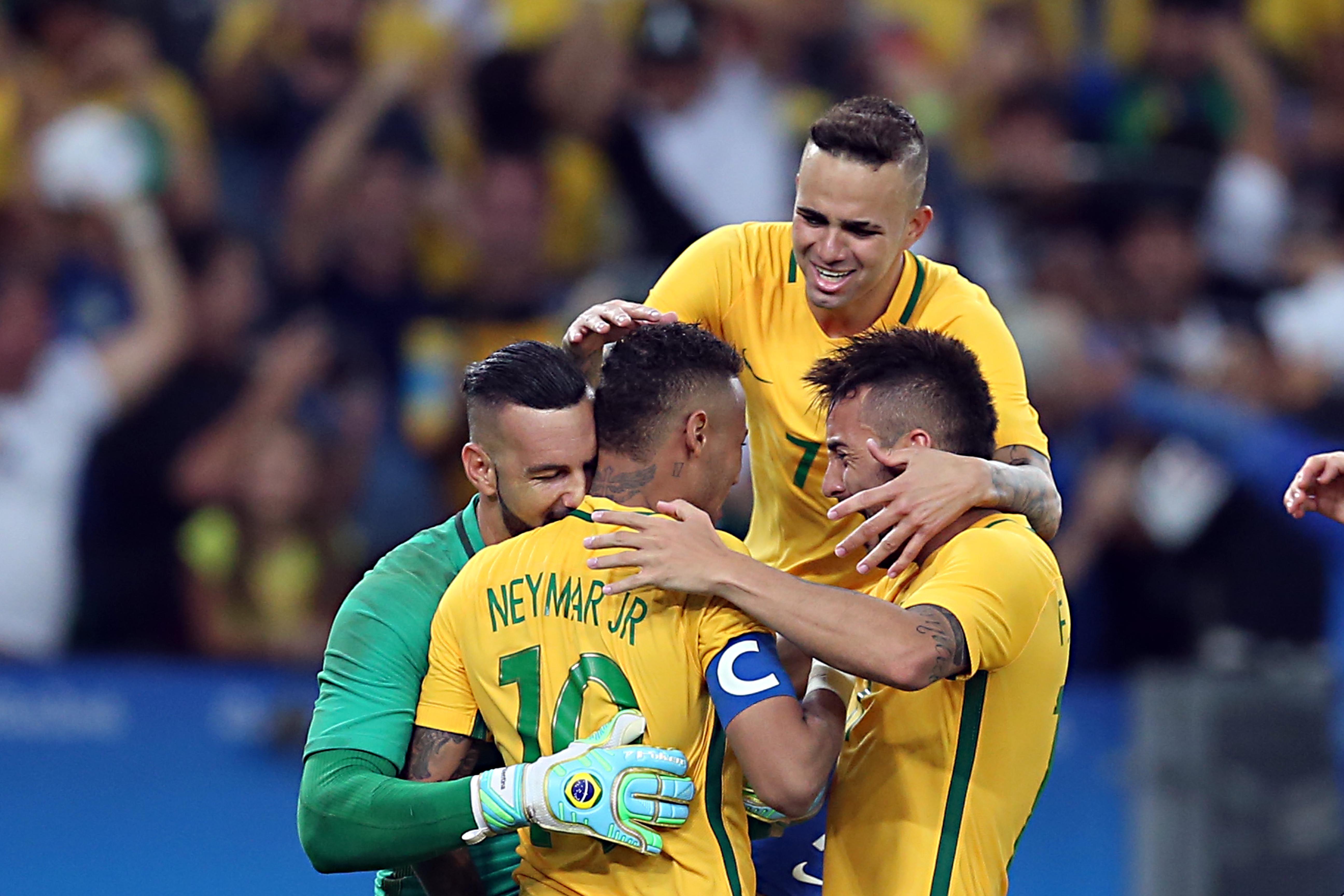 Neymar foi o capitão do Brasil no Rio-2016