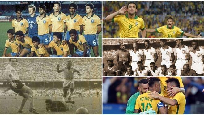 Jogos históricos do Brasil no Maracanã têm show de Romário, três de Pelé e até pancadaria