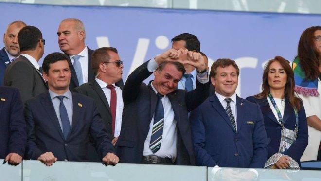 Jair Bolsonaro e Sergio Moro no Maracanã