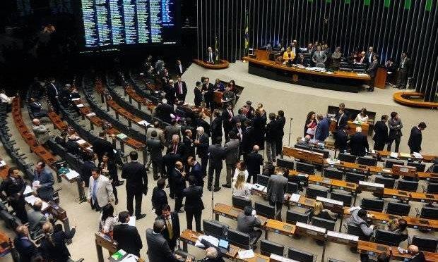 Plenário da Câmara dos Deputados - pauta do congresso