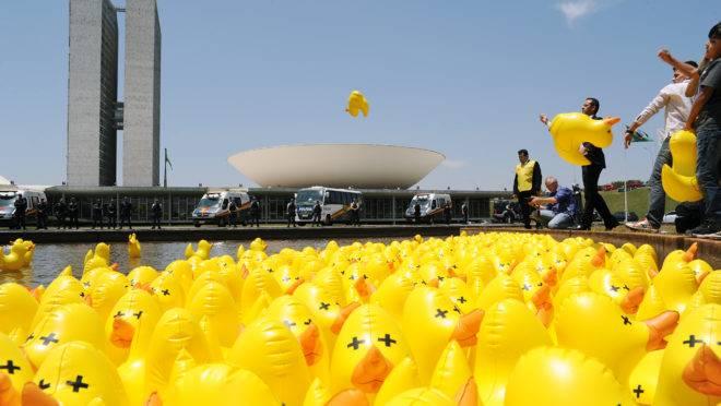 Protesto contra aumento de impostos em Brasília