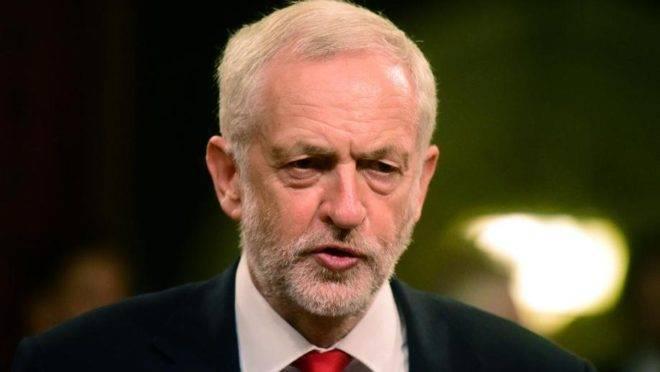 O líder do Partido Trabalhista, de oposição, Jeremy Corbyn