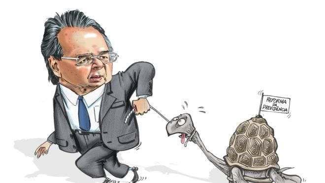 Vaquejada, tartaruga e reforma da Previdência: Charge do Paixão