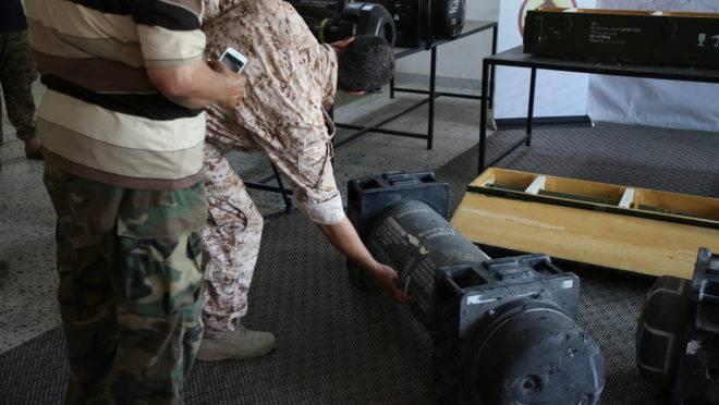 mísseis da França na Libia