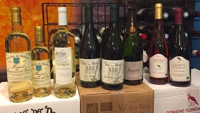 Os vinhos franceses do Rhône a serem servidos no jantar desta sexta-feira na La Tournée des Chefs à la Cuisine 2019.