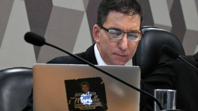 Glenn Greenwald na CCJ do Senado. Foto: Edilson Rodrigues/Agência Senado