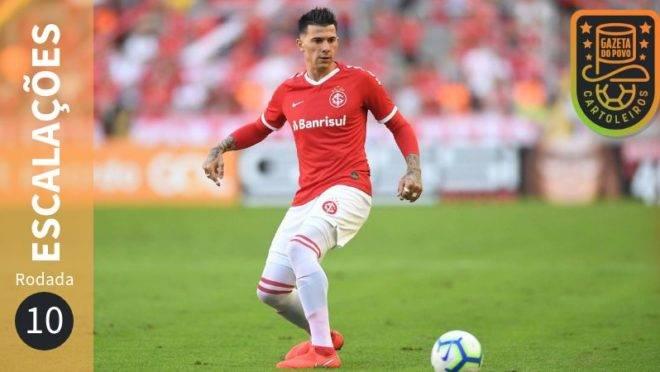Prováveis escalações da 10.ª rodada do Cartola FC 2019.