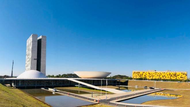 Palácio do Congresso Nacional, a sede das duas Casas do Poder Legislativo brasileiro.