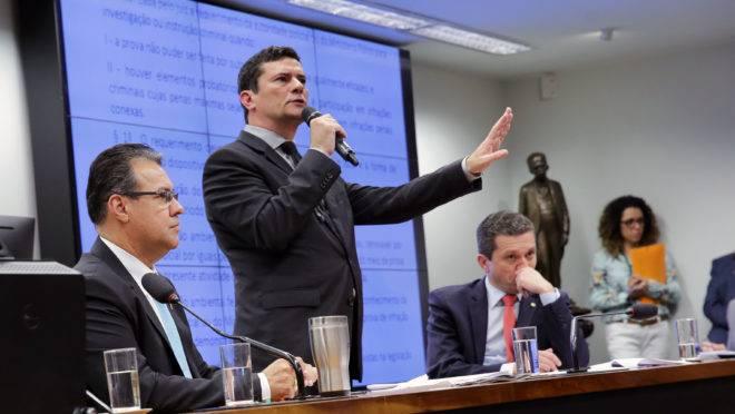 Sérgio Moro durante audiência na Câmara dos Deputados