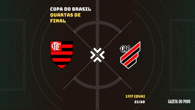 Flamengo e Athletico decidem a vaga na semifinal da Copa do Brasil