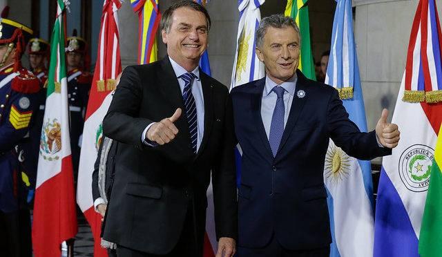 Bolsonaro e Macri na cúpula do Mercosul