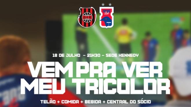 Brasil de Pelotas x Paraná terá telão na sede da Kennedy