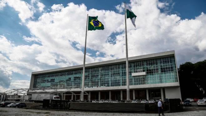 Palácio Iguaçu, sede do governo do Paraná, no Centro Cívico