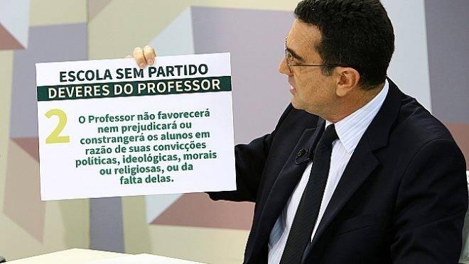 O advogado Miguel Nagib, do Escola sem Partido, na Câmara dos Deputados, em 22 de fevereiro de 2017