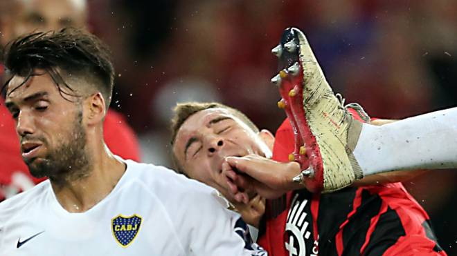 Marco Ruben marcou três gols na vitória sobre o Boca na primeira fase