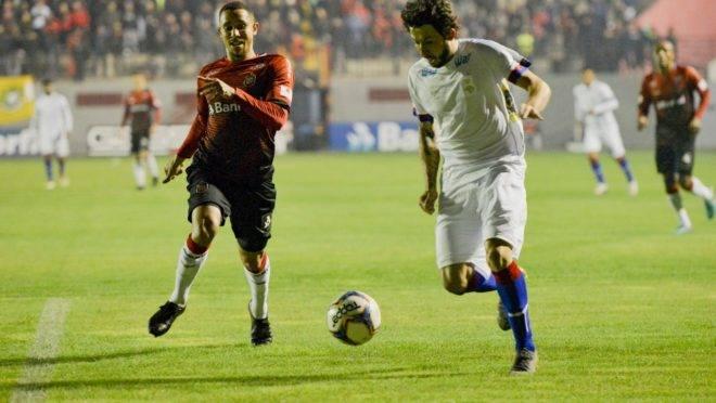 Fernando Neto deve a maior nota dos jogadores paranistas na avaliação da Gazeta do Povo. Foto: FLÁVIO NEVES/ESTADÃO CONTEÚDO