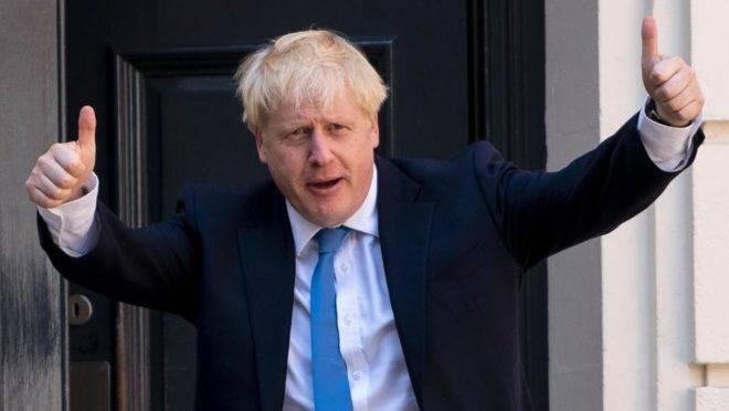 O novo líder do Partido Conservador e próximo primeiro-ministro do Reino Unido, Boris Johnson, na sede do seu partido, em Londres, 23 de julho de 2019