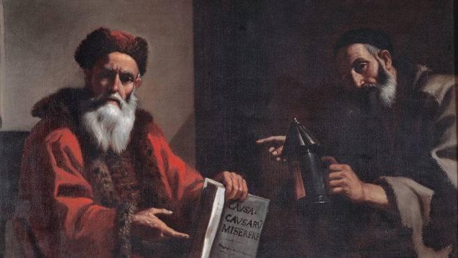 Mattia Preti, Diogenes and Plato.