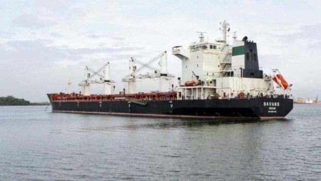 Um dos navios iranianos parados no Porto de Paranaguá
