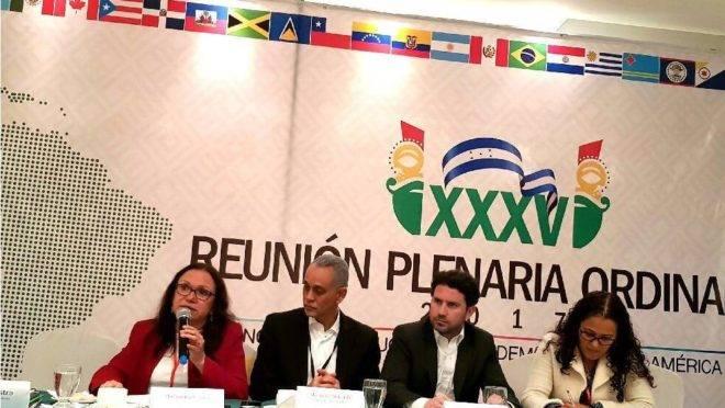 Reunião da Copppal em Honduras, em 2017