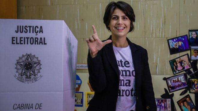 Manuela D'Ávila foi a candidata a vice-presidente da República na chapa do PT em 2018.