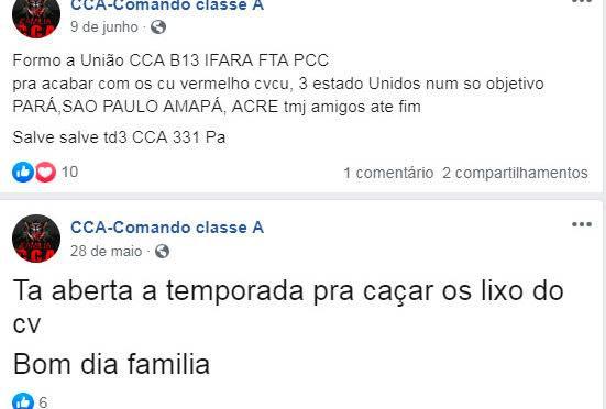 Comando Classe A: CCA Facebook