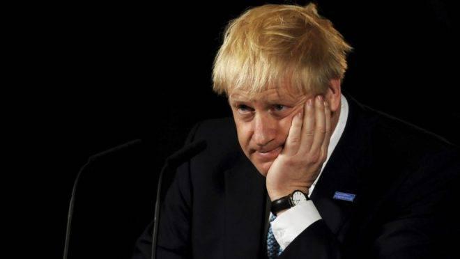O primeiro-ministro do Reino Unido, Boris Johnson, em evento em Manchester, 27 de julho de 2019