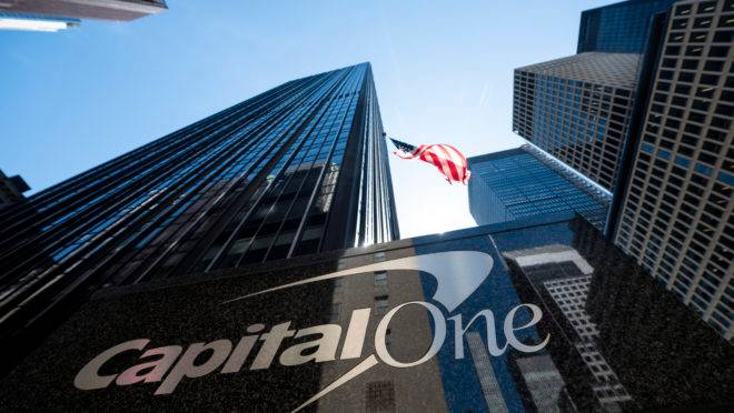 Sede do Capital One Bank em Nova York, EUA