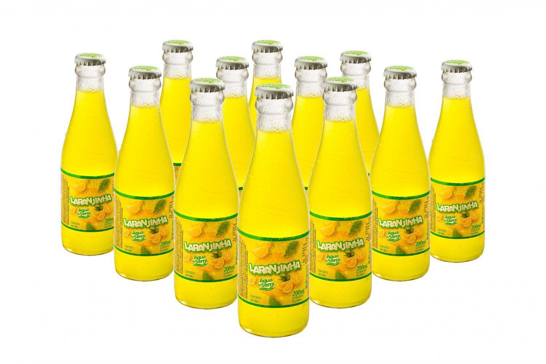 A tradicional <em>Laranjinha</em> em garrafa retornável. Foto: divulgação.