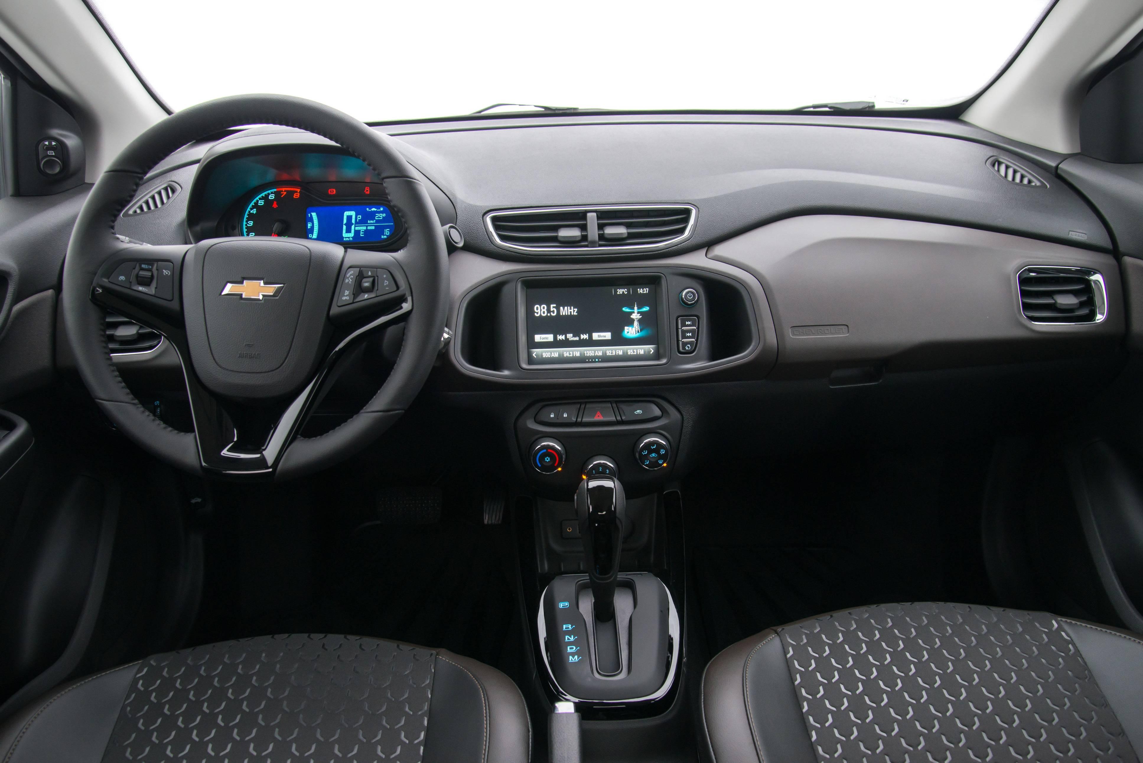 Painel atual da primeira geração. Foto: Chevrolet/ Divulgação